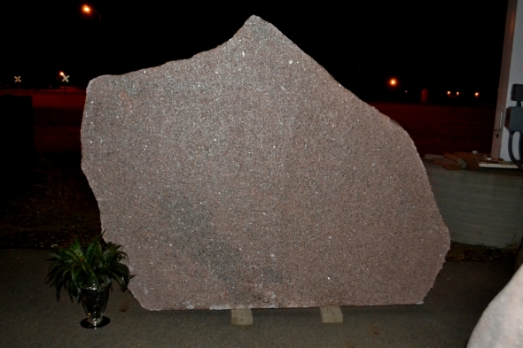 Granite Boulder Blank For Cemetery Monument