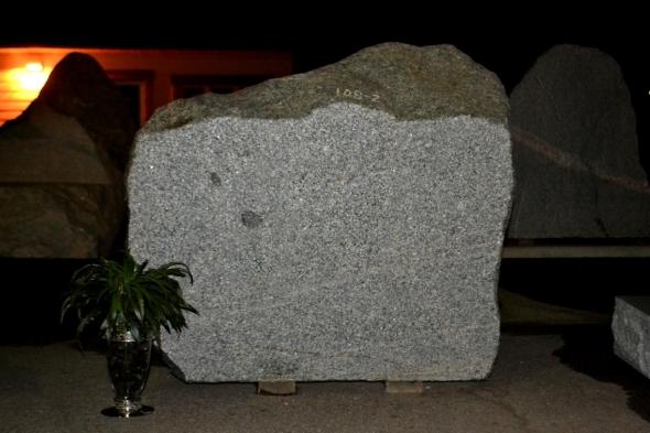Sandblasted Boulder Memorial Sign
