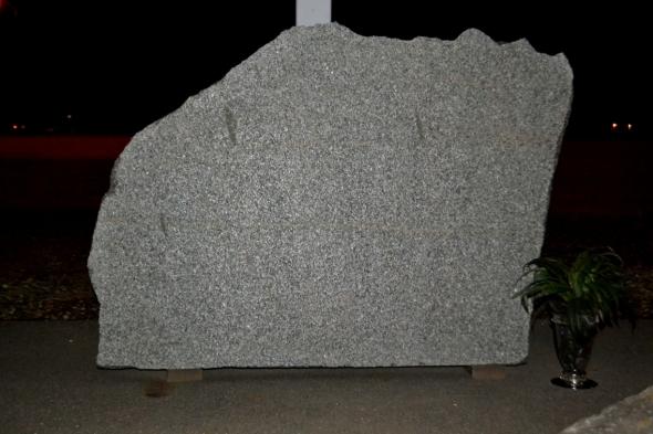 Granite Boulder Cemetery Monument