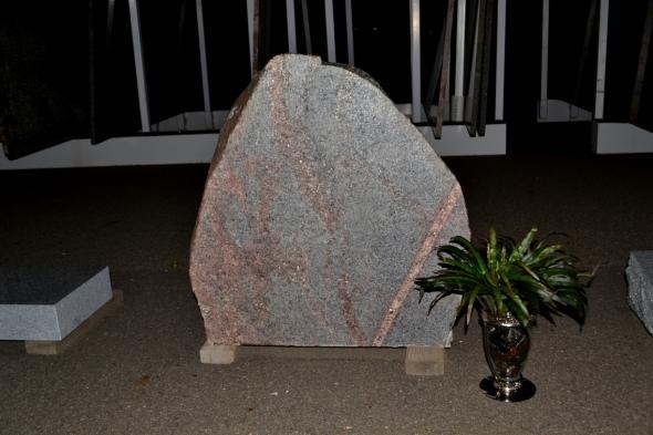 Granite Boulder Carved Sign