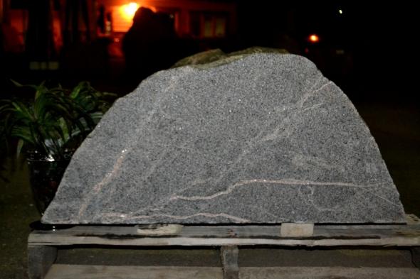Granite Boulder Memorial for Cemetery