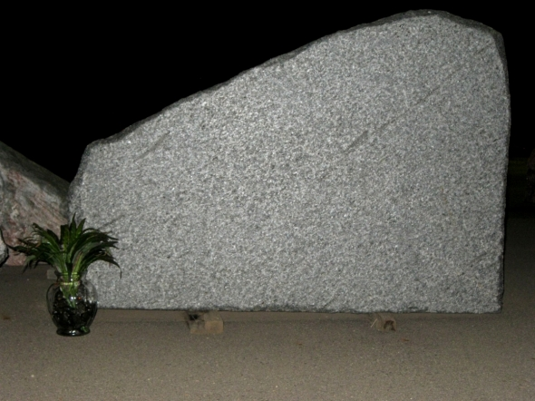 Granite Cemetery Memorial Made From Natural Rock