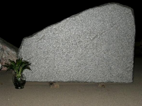 Granite Cemetery Memorial Made From Natural Rock