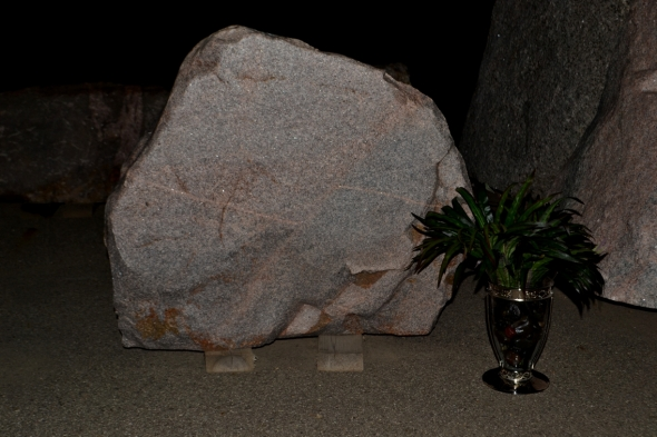 Natural Granite Boulder For Custom Farm Sign
