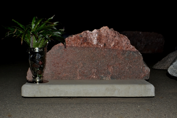 Pet Memorial Made Of Natural Rock