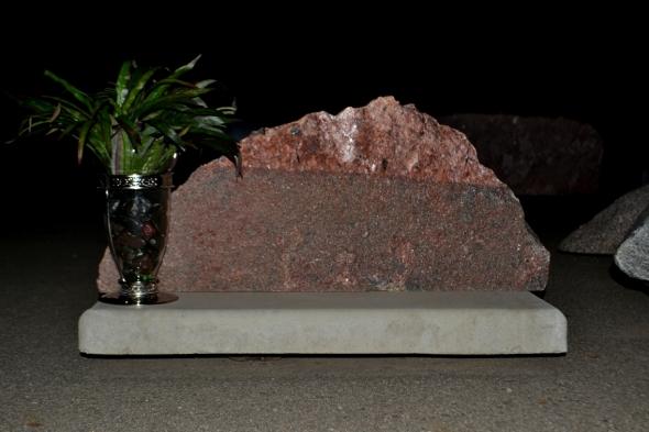 Pet Memorial Made Of Natural Rock