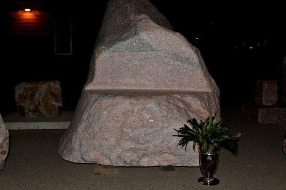 Natural Boulder Bench Or Memorial Stone